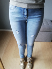 skinny jeans normale taille push up lichtblauw