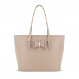 shopper strik licht taupe