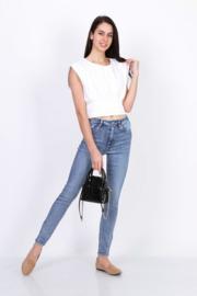skinny Toxik hoge taille jeansblauw L185-D01