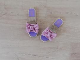 slipper strikje lila
