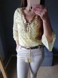 blouse bohemian lichtgeel