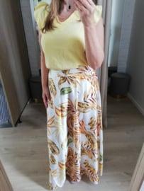 tetra blouse V-hals lichtgeel