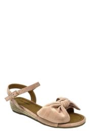 sandalen met strikje roze