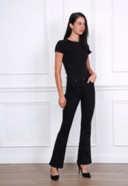 Hoge taille bootcut jeans zwart
