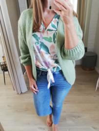 bernadette cardigan turquoise