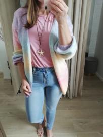 open rainbow colour cardigan