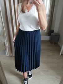 maxi-rok uni donkerblauw