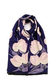 sjaal met roze bloemen