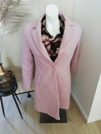 mantel chevron roze