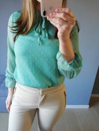 blouse voile strik munt