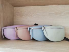 lederen schoudertasje lila / roze / blauw / pistache / beige