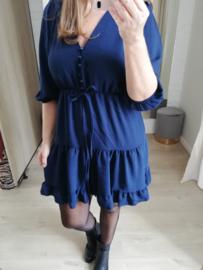 gecentreerde jurk donkerblauw