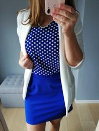 jurk met blouse bovenkant kobaltblauw