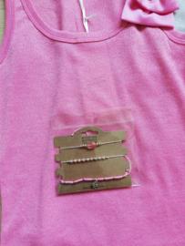armbandjes schelpjes roze