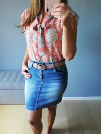 blouse striklintje motief roze