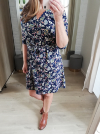 jurk print blauw