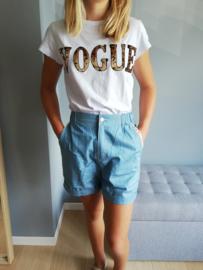 T-shirt Vogue wit