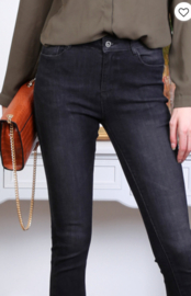 basic push up jeans in grijze wassing