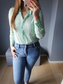 hemd luipaardprint groen