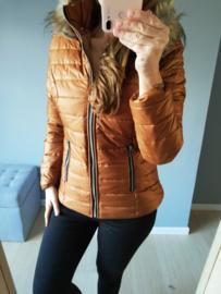 dons jasje met afneembare kap roest