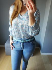 blouse millefleur blauw