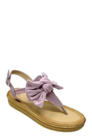 sandaal met rekker en strikje lila