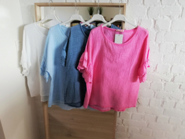 ruime tetra blouse lichtblauw