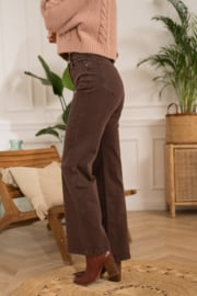 Hoge taille wide flair cacao