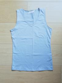 basic V-hals topje lichtblauw (met maatjes)