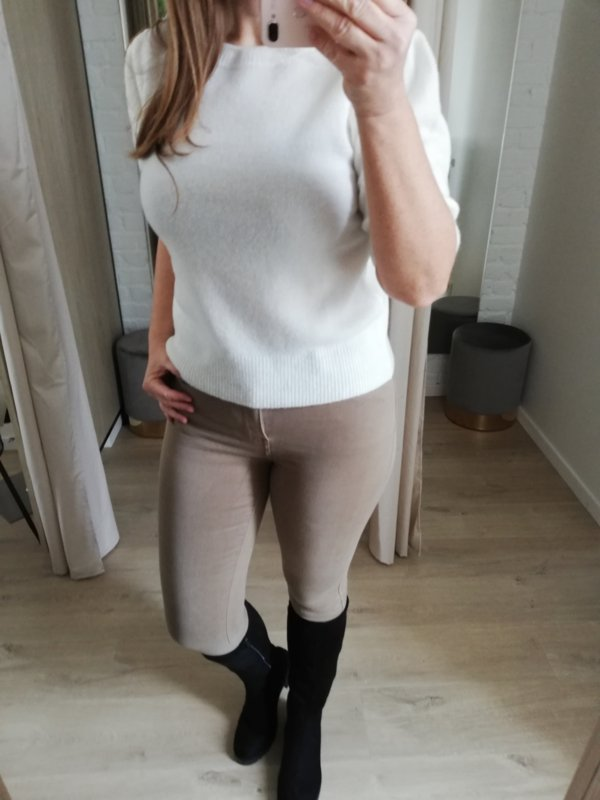 Toxik hoge taille taupe L185-121