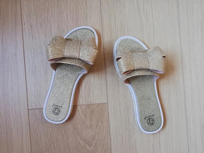 slippers blinkers strik goud
