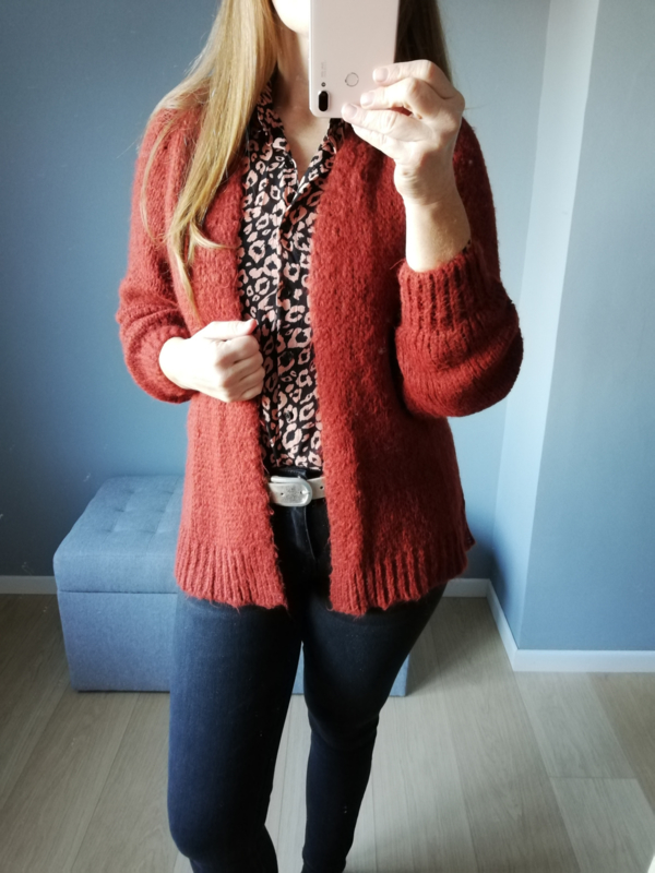 open cardigan roest