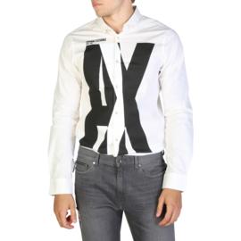 Armani Exchange men's Long Sleeves shirt white