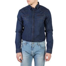 Armani Jeans men's Long Sleeves shirt blue