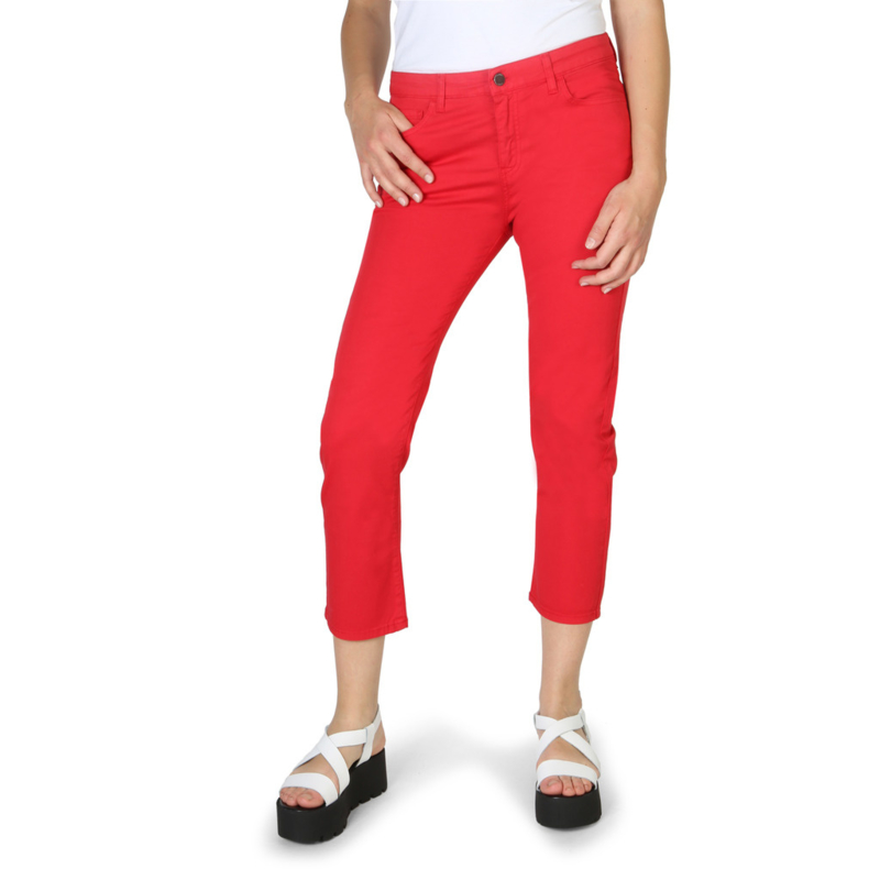 Armani Jeans women's trouers red