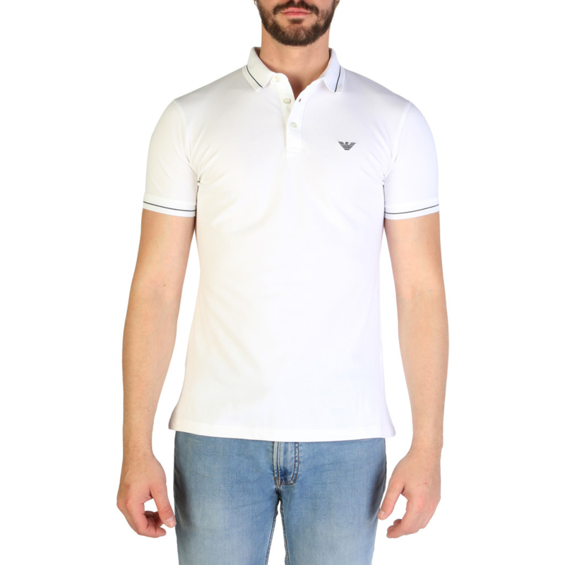 Emporio Armani men's polo shirt white