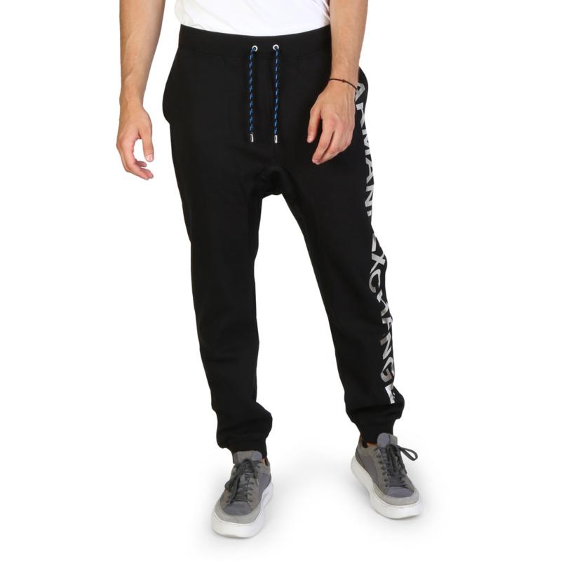 Armani Exchange men's tracksuit pants black