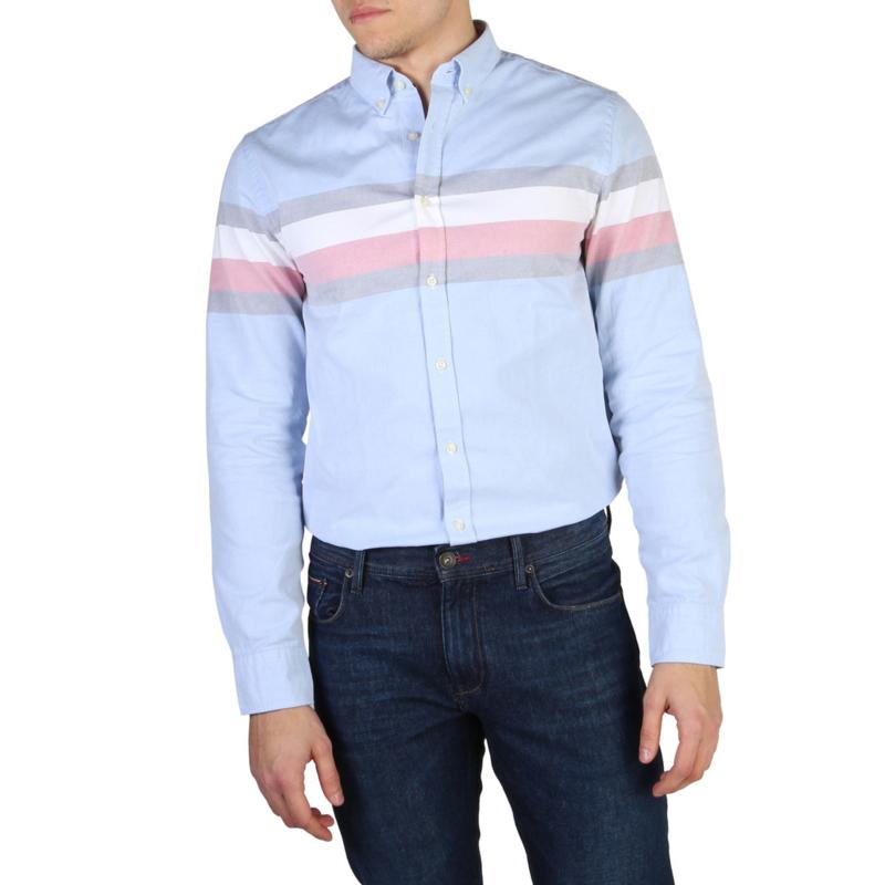 Tommy Hilfiger men's Long Sleeves shirt blue