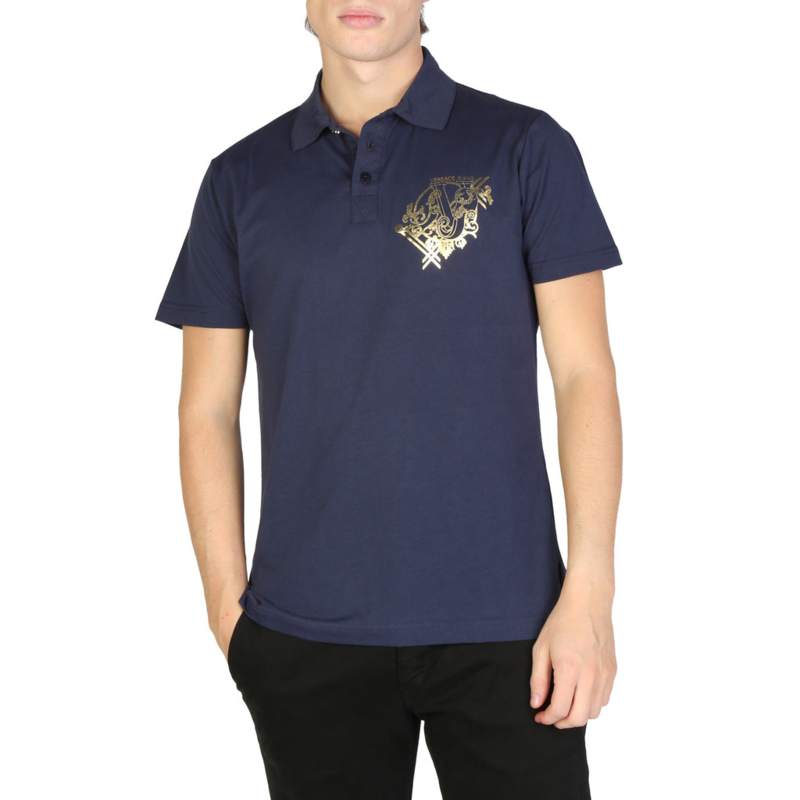Versace Jeans men's polo shirt blue