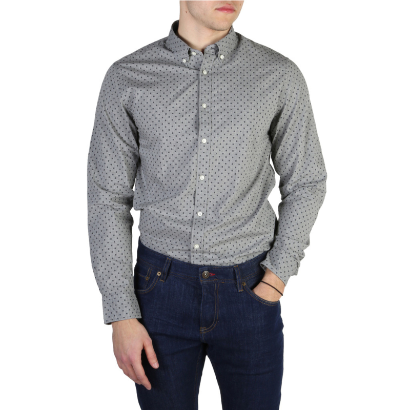 Tommy Hilfiger men's Long Sleeves shirt grey