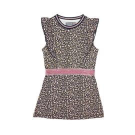 Vinrose pink leopard jurk