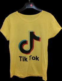 TikTok t-shirt geel