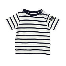 Ducky Beau T-shirt gestreept navy