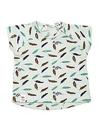 Riffle t-shirt veren ecru