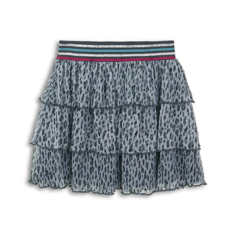 DutchJeans rok panter grijs blauw