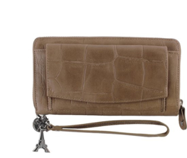 SLB O4S  O14 sand, Lou lou essentials smart little Bag, clutch/portemonnee, kleur taupe