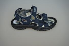 Little David, sandaal met klittenbandsluiting op wreef en achter,  blauw, 29