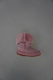 Bardossa laarsje met bontje roze nubuck 21