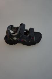 Little David, sandaal, waterschoen, klittenbandsluiting op wreef en achter, valt klein, donker grijs,