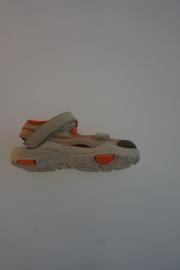 Ricosta, combinatie leer, high tech, superlicht sandaaltje met stootneusje en dichte teen, leren binnenzool, licht taupe   23